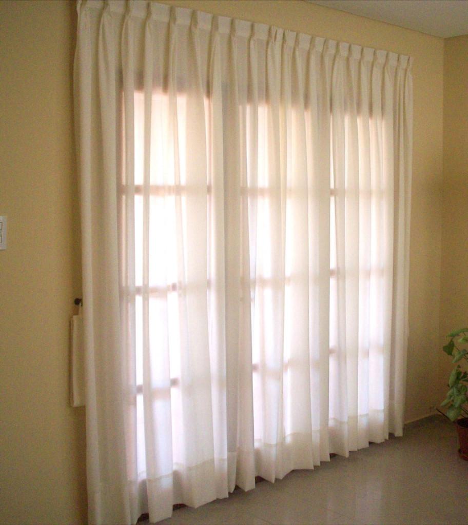 Cortinas cortinas de tela cortina lino rayas bicolor - Cortinas de tela ...
